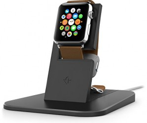 Twelve South HiRise for Apple Watch Stand, Black | Charging stand for Apple Watch