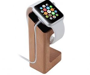 Apple Watch Handcrafted Wood Stand, eLander™ Apple Watch Charging Dock / Station / Platform iWatch Charging Stand Bracket Docking Station Holder for 2015 Apple Watch 38/42mm Sport Edition All Models (100% Beech)