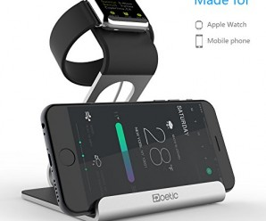 Apple Watch Stand – Poetic iPhone / Apple Watch Stand [Dual Stand] – [Aluminum] [Versatile][Elegant] Aluminum Made Stand with TPU Dock [Charging Cable & Watch Case & Watch NOT INCLUDED] for iPhone / Apple Watch – Sliver (3-Year Manufacturer Warranty From Poetic)