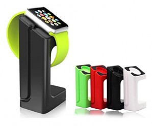 Apple Watch Stand,Bluesim® Apple Watch Charging Dock / Station / Platform iWatch Charging Stand Bracket Docking Station Holder for 2015 Apple Watch [38mm and 42mm] – Compatible with Both Models (Green)