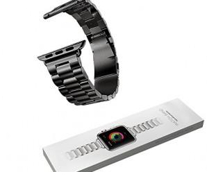 MD Apple 38mm/ 42mm charcoal brilliant black I-Watch Band, Strap, Metallic Chain, Buckle Wrist Band