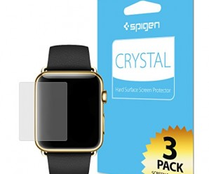 Apple Watch Screen Protector, Spigen® [Full HD] Apple Watch 42mm Screen Protector Clear **NEW** [Crystal] [CR] JAPANESE BASE PET FILM High Definition (HD) Premium Ultra Clear Front Screen Protector for Apple Watch 42mm (2015) – CR (SGP11493)