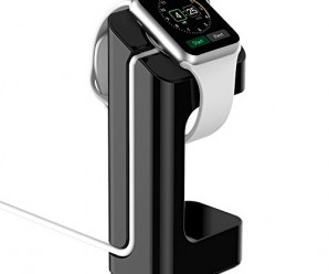 Apple Watch Stand,Mopo Apple Watch Charging Stand/Station/Dock/Platform for 38/42mm Sport Edition All Models.(Black)