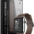 Apple Watch Strap Band – E LV Apple Watch 38MM – (100% GENUINE LEATHER) Strap Band High Quality Premium Strap Band Accessories for Apple Watch 38MM with [ADAPTER] to install – BROWN