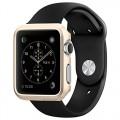 Apple Watch Case, Spigen® [Exact-Fit] Apple Watch 42mm Case Slim **NEW** [Thin Fit] [Champagne Gold] Premium Matte Finish Hard Case for Apple Watch 42mm (2015) – Champagne Gold (SGP11501)