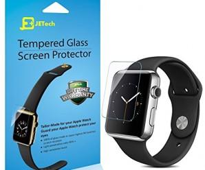 Apple Watch Screen Protector, JETech® 42mm Premium Tempered Glass Screen Protector for Apple Watch (42mm)