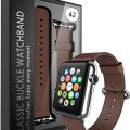 E LV Watch Leather Strap Band with Adapter for Apple Watch 42mm – Brown