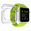 Apple Watch Case, LUVVITT® CLARITY Apple Watch Case 38mm | with TEMPERED GLASS Screen Protector – Full Body Apple Watch Cover | TPU Flexible Rubber Case for Apple Watch / Sport / Edition – 38m Clear