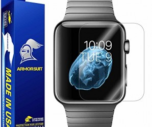 ArmorSuit MilitaryShield – Apple Watch 42mm Screen Protector [Full Screen Coverage] [2-Pack] Anti-Bubble Ultra HD Shield with Lifetime Replacements