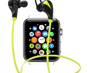 WireTrax Earphones – Premium Wireless HeadPhones for Devices ✮ Includes iWatch/Apple Watch, iPhone 6, 6 Plus, 5 5c 5s 4, iPad Air, Mini, Retina, iPod, Samsung Galaxy S6,S5,S4,S3 Note 4 3, HTC M9 M8 M7,LG Flex 2 G3 G2, PS4, Windows and Other Android IOS Smart CellPhones ✮ Bluetooth Workout Earbud Headset ✮ Built in Microphone ✮ [ Athletic Sports / Yoga / Running / Gym / Exercise/ Sweatproof ] (Green)