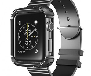 Apple Watch Case, i-Blason Rugged Protective Case with Strap Bands for Apple Watch / Watch Sport / Watch Edition 2015 Release 2015 (42 mm, Black)