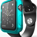 Apple Watch Case, E LV [Ultra-Thin] Apple Watch 38mm Case [Slim] Premium Semi-transparent Super Lightweight / Exact Fit / Absolutely NO Bulkiness Soft Case for Apple Watch 38mm with 1 Microfiber Cleaning Cloth [TURQUOISE]