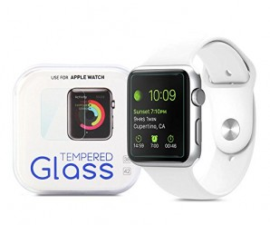 Apple Watch Screen Protector, GMYLE Clear Ultra Tempered Glass Crystal Shield Film Guard for Apple Watch 42mm