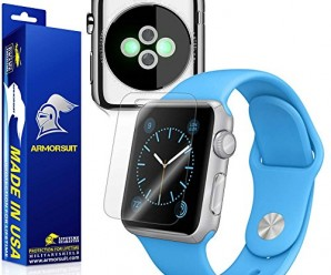 ArmorSuit MilitaryShield – Apple Watch 38mm Screen Protector [Full Screen Coverage] + Full Body Skin Protector / Front + Back Anti-Bubble Ultra HD & Touch Responsive Shield with Lifetime Replacements
