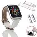 Apple Watch Strap, Surprise Panda (TM) Genuine Leather Replacement Strap for Apple Watch iWatch Strap 38mm and 42mm Classic Buckle & Modern Buckle Wrist Band Straps Watchband with Stainless Burnished Buckle Clip for Apple Watch&apple Watch Edition 2015 Release (White, 38mm)