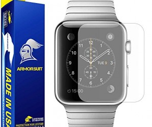ArmorSuit MilitaryShield – Apple Watch 42mm Matte Screen Protector [Full Screen Coverage] [2-Pack] Anti-Glare/Anti-Fingerprint/Anti-Bubble & Touch Responsive Shield with Lifetime Replacements