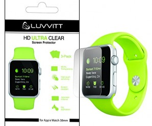 LUVVITT® HD ULTRA CLEAR Screen Protector for Apple Watch 38mm (3x Pack)   for Apple Watch / Watch Sport / Watch Edition – Crystal Clear