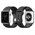 Apple Watch Band, Spigen® Apple Watch Strap (42mm) [HYBRID POLYMER] Rugged Band Black [ULTRA COMFORT] (2015) – Black (SGP11582)