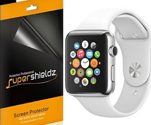 [6-Pack] SUPERSHIELDZ- High Definition Clear Screen Protector For Apple Watch 42mm + Lifetime Replacements Warranty- Apple Watch Sport and Apple Watch Edition (42mm ONLY) – Retail Packaging