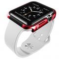 Apple Watch Case,X-Doria Defense Edge Series Aluminum Apple Watch Protective bumper Iwatch Case-42mm Red