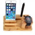 Apple Watch Stand, Jelly Comb® [Ultimate Docking Solution] Bamboo Wood Charge Station for Apple Watch, iPhone & iPads – Fits All iPhone, iPad & Apple Watch Models
