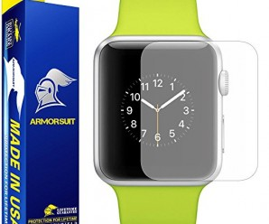 ArmorSuit MilitaryShield – Apple Watch 38mm Matte Screen Protector [Full Screen Coverage] [2-Pack] Anti-Glare/Anti-Fingerprint/Anti-Bubble & Touch Responsive Shield with Lifetime Replacements