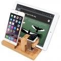 iVAPO MM607 3-in-1 Bamboo Body Apple Watch, iPhone & iPad Stand for Apple iWatch 38mm/42mm, iPhone 5s, 6, 6 Plus, iPad Air, iPad Air 2, iPad mini