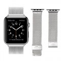 Apple Watch Band, LROO® Milanese Loop Stainless Steel Mesh Replacement Strap Wrist Band with Metal Clasp for Apple Watch & Sport & Edition (Silver-big mesh-42mm)