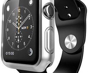 Apple Watch Case, E LV [Ultra Slim] Apple Watch 38mm Case Premium Semi-transparent Super Lightweight / Exact Fit / Absolutely NO Bulkiness Soft Case for Apple Watch 38mm with 1 Microfiber Cleaning Cloth [CLEAR]