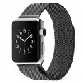 Apple Watch Band,Kartice(TM) Stainless Steel Magnetic Closure Clasp Bracelet Milanese Loop Stainless Steel Mesh Replacement Wrist Band With Adapter or Apple Watch & Sport & Edition–Black 42mm