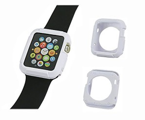 Apple Watch TPU Armor Case, Crazy Panda® [Resilient] Apple Watch 42mm Case Impact Protection NEW Rugged Armor Shell Case Ultimate protection from drops and impacts for Apple Watch 42mm (2015) (White)