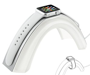 Apple Watch Stand,Kartice Apple Watch Charging Dock Rainbow Bridge Charging Stand Station Aluminum Cover & Acrylic Platform iWatch Charger Bracket Cradle Holder for Apple Watch 42mm & 38mm(Silver)
