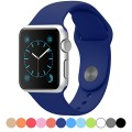 FanTEK Apple Watch Band – Soft Silicone Sport Style Replacement iWatch Strap for Apple Wrist Watch 42mm Models (Dark Blue)