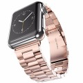 Apple Watch Band, Pugo Top® Stainless Steel Metal Apple Replacement Watch Wrist Band (Rose Gold 42mm)