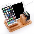Apple Watch Stand,EIALA Apple Watch Charging Stand Bamboo Wood Charge Dock Holder for Apple Watch & Docking Station Cradle Bracket for iPod iPhone iPad & Other Phones Tablets (Bamboo Wood)