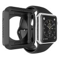 Apple Watch Case, LUVVITT® ULTRA ARMOR Case for Apple Watch 42mm (High Performance Fluoroelastomer) Flexible Rubber Case for Apple Watch | for 42mm Apple Watch / Watch Sport / Watch Edition – Black
