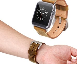 Mkeke L003 Replacement Watch Band for Apple Watch – Brown