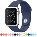 Apple Watch Band – FanTEK Soft Silicone Sport Style Replacement iWatch Strap for Apple Wrist Smart Watch 42mm Models M/L Size (Midnight Blue)