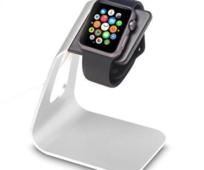 Apple Watch Stand, LUVVITT® [Charging Dock] Apple Watch Charging Stand [Apple Watch Stand] Aluminum for Apple Watch (2015) [Charging Cable & Watch Case & Watch NOT INCLUDED] – (LUV-1035) Silver