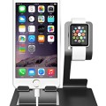 Apple Watch Stand and iPhone Cradle Dual 2 in 1 Design Black