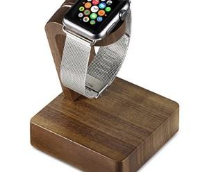 Apple Watch Stand, YOPO iWatch Wood Charging Stand(Black walnut)