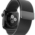 Apple Watch Band, Zukar® Ultra Premium 42mm Milanese Loop Black Stainless Steel Bracelet Band Strap for Apple Watch 42mm, All Models & No Buckle Needed