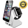 JEBSENS-Apple Watch Stand, Charging Stand Holder for Apple Watch & iPhone – Aluminum Made – For all iWatch & iPhone(iPhone 5/ 5S/ 6/ 6 Plus, iWatch BASIC / SPORT / EDITION Model)