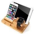 Apple Watch Stand ,100% Natural Bamboo Wood.wowo® Charging Station Charging for ipad Iwatch Iphone 6 6s 5 5s S6 S5 S4 Note 4 3 Google Nexeus All Phone