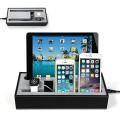 Hapurs Apple Watch Charging Stand Cradle Holder & Iphone iPad Charging Station Iphone iPad Charging Dock Multi-Device Charging Dock & Desktop Organizer for Smartphones & Tablets(Black)