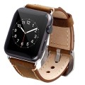 Apple Watch Band, 42mm Iwatch Strap Premium Vintage Genuine Leather Replacement Watchband with Secure Metal Clasp Buckle for Apple Watch Sport Edition