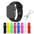 Apple Watch Band, KOMEI Replacement Silicone Gel Strap Wrist Band /[8 Color Combination Pack] iWatch Strap for Apple Watch / Watch Sport / Watch Edition Release 2015) +1x Free Silver Metal Shoe Keychain (38mm)