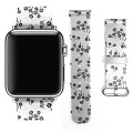 Apple Watch Band 38mm iWatch Genuine Leather Funny Little Flower