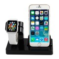 Abusun 2 in 1 Apple Watch Stand Dock iPhone Charging Stand Holder Display Cradle for Apple iWatch/ iPhone 6 / 6 Plus/ 5s/ 5 (Black)