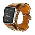 Apple Watch Band,Cara Apple Watch Leather Band,Genuine Leather Band Cuff Bracelet Wrist Watch Band with Adapter for Apple Iwatch(42mm Brown)